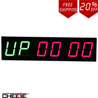 Only 158 00USD For Large LED Crossfit 4Inch Double Color LED Interval Timer For House GYM