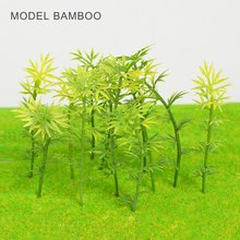 Teraysun 200pcs model bamboo 6cm green miniature scale for trains layout