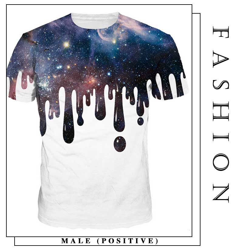 8082fc91c4c8ce 2018 Men T-Shirt Casual 3D Print Starry Sky Women Short Sleeve Summer Loose  White High Quality Tops Tees For Lover NA336. _01 _02 _03 _04 ...