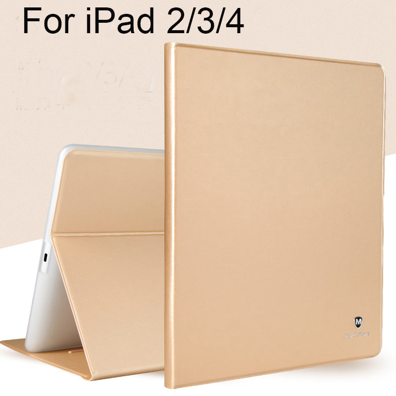 все цены на For Apple iPad 2/3/4 Case Cover High Quality TPU+PU Leather Protective Skin Smart Cover with Sleep/wake up Tablet Accessory+gift онлайн