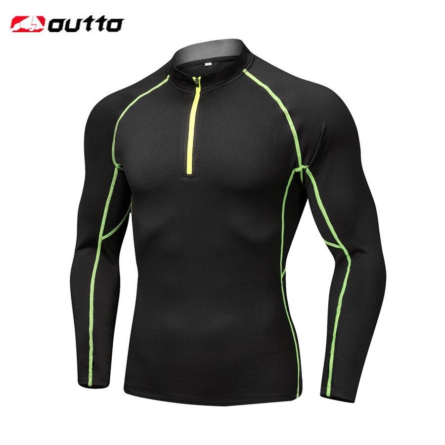 Мужское термобелье Outto, теплое нижнее белье на молнии, с длинными рукавами, для езды на велосипеде и активного отдыха|Спортивное белье для велоспорта|   | АлиЭкспресс