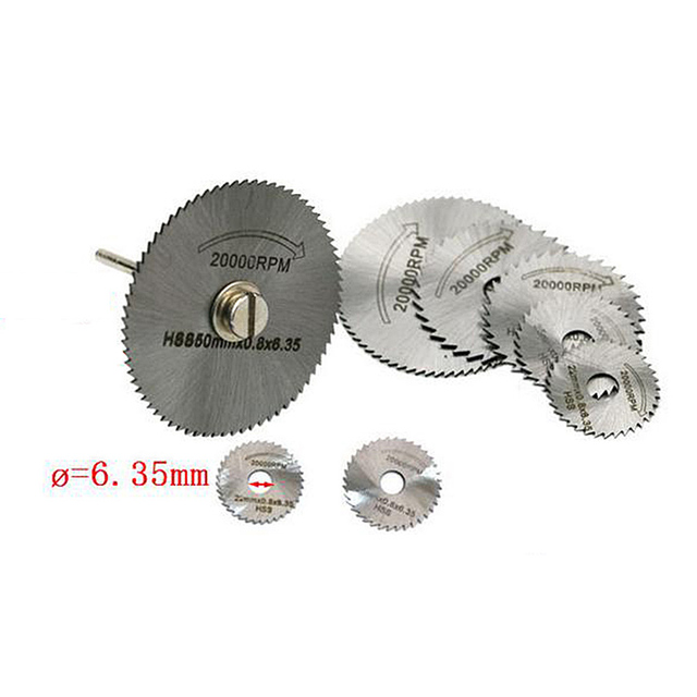 60 Pcs HSS Metal Circular Saw Disc Wheel Blades Drill Rotary Tools for Small Cut