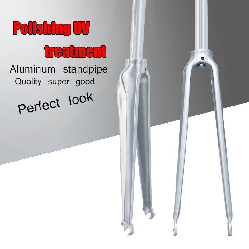 FETESNICE Original 700C Road Bikes Fork Fixed Gear Bicycles Aluminum alloy Front Fork for bike d01 aluminum alloy bicycle front fork washer blue 28 6mm