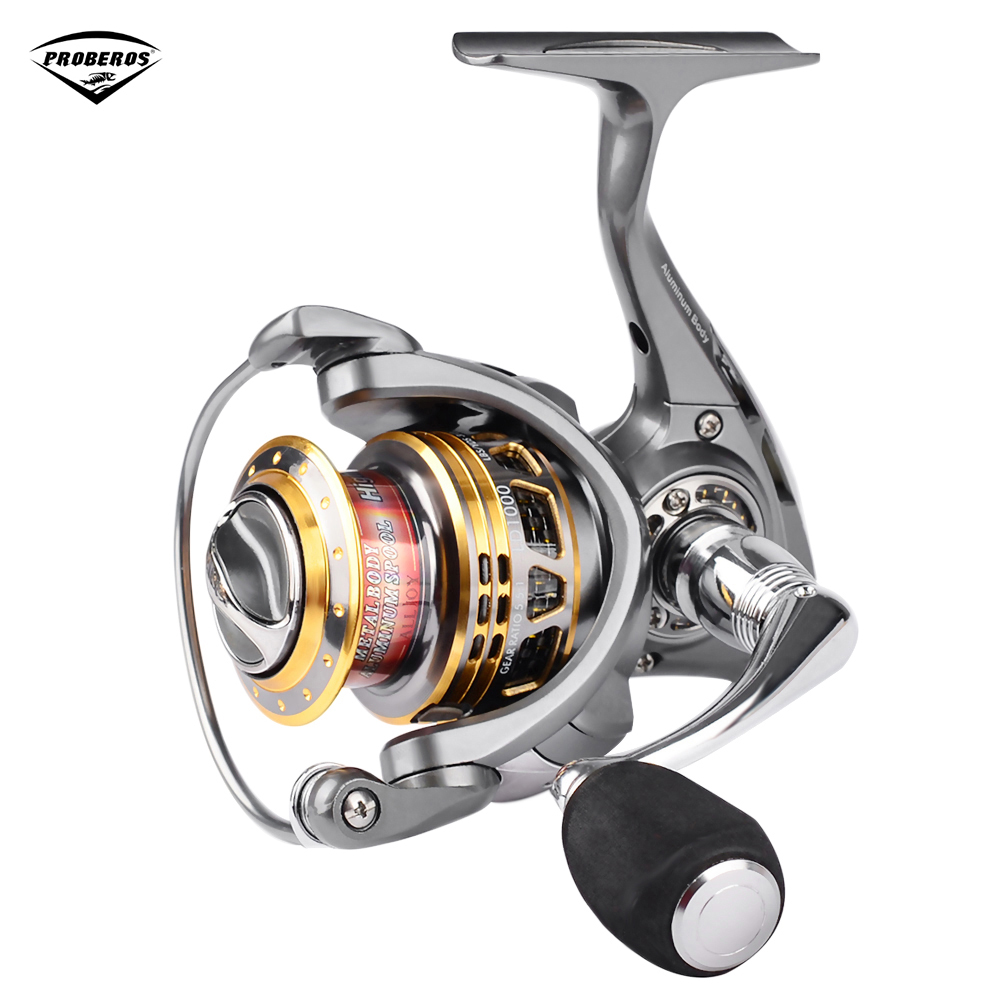 PRO BEROS Aluminum Alloy Hollow Spool 13 + 1 BB 5.5:1 Fishing Spinning Reel Lightweight Fishing Wheel LD1000-5000 nunatak naga 5 2 1 4 7 1 11bb 7 5kg spinning fishing reel 2000 3000 4000 5000 spinning wheel fishing tackle with spare spool