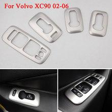 Нержавеющаясталь салона дверь подлокотник окно кнопки включения Накладка для Volvo XC90 2002-2014 Аксессуары стайлинга автомобилей