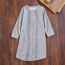 Sleepwear Female Night Dress Ladies Spring Long Sleeve Sexy Ladies Nightgown Women Cotton Double Thin Gauze Nightdress Nightwear