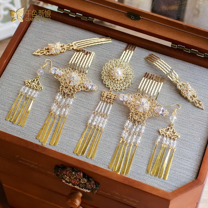granos cristalinos de la joyera de gama alta mujeres horquillas peinetas nia adornos para el cabello
