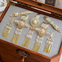 High end pettini donne forcelle gioielli in perline di cristallo ragazza ornamenti per capelli spilli wedding accessori per capelli di colore dell'oro th021