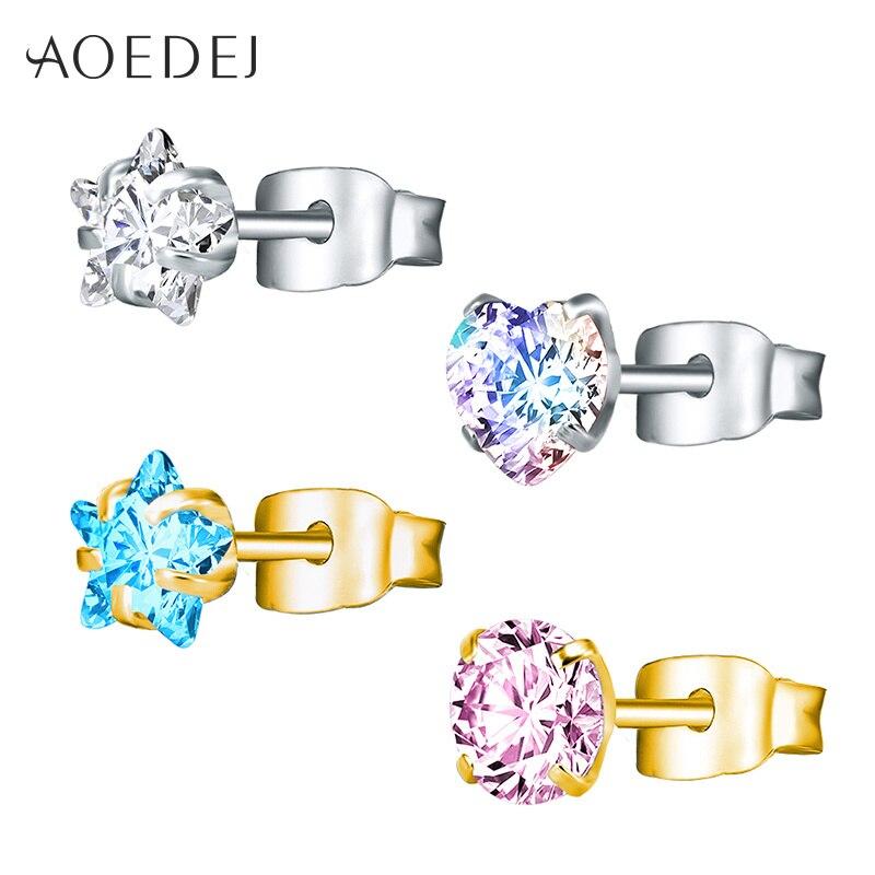 Купить серьги гвоздики aoedej 3 8 мм золотого цвета в форме звезды