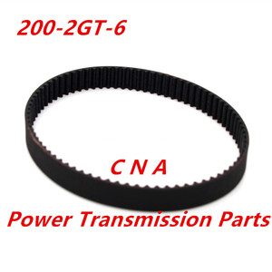 Image 1 - 3d printer belt closed loop rubber GT2 timing belt 200 2GT 6 teeth 100 length 200mm width 6mm