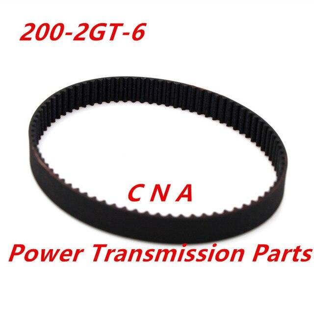 3d printer belt closed loop rubber GT2 timing belt 200 2GT 6 teeth 100 length 200mm width 6mm