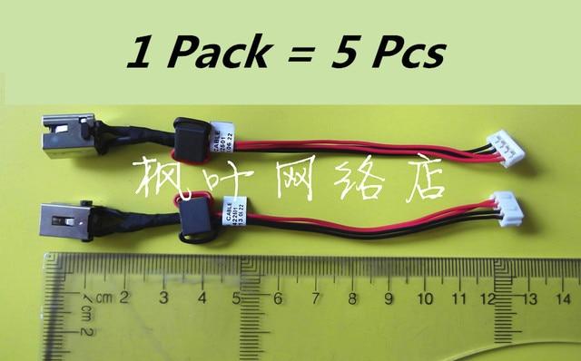 5 pcs laptop dc power jack cable wire harness for toshiba satellite l50 l55  l55d l55dt