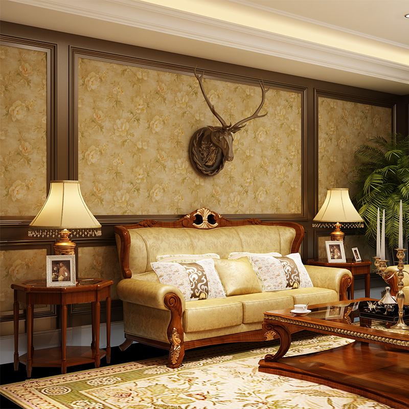 beibehang papel de parede para quarto American country style retro garden flower wallpaper  for living room bedroom silla de director plegable de madera con bolsas para maquillaje pelicula studio hw46460