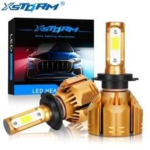 XSTORM H7 Led H1 H3 H4 H8 H11 HB4 HB3 H13 9004 9007 HIR2 автомобиля светодиодные лампы фар COB 60 W 9000LM 6000 K белый лампы для авто огни