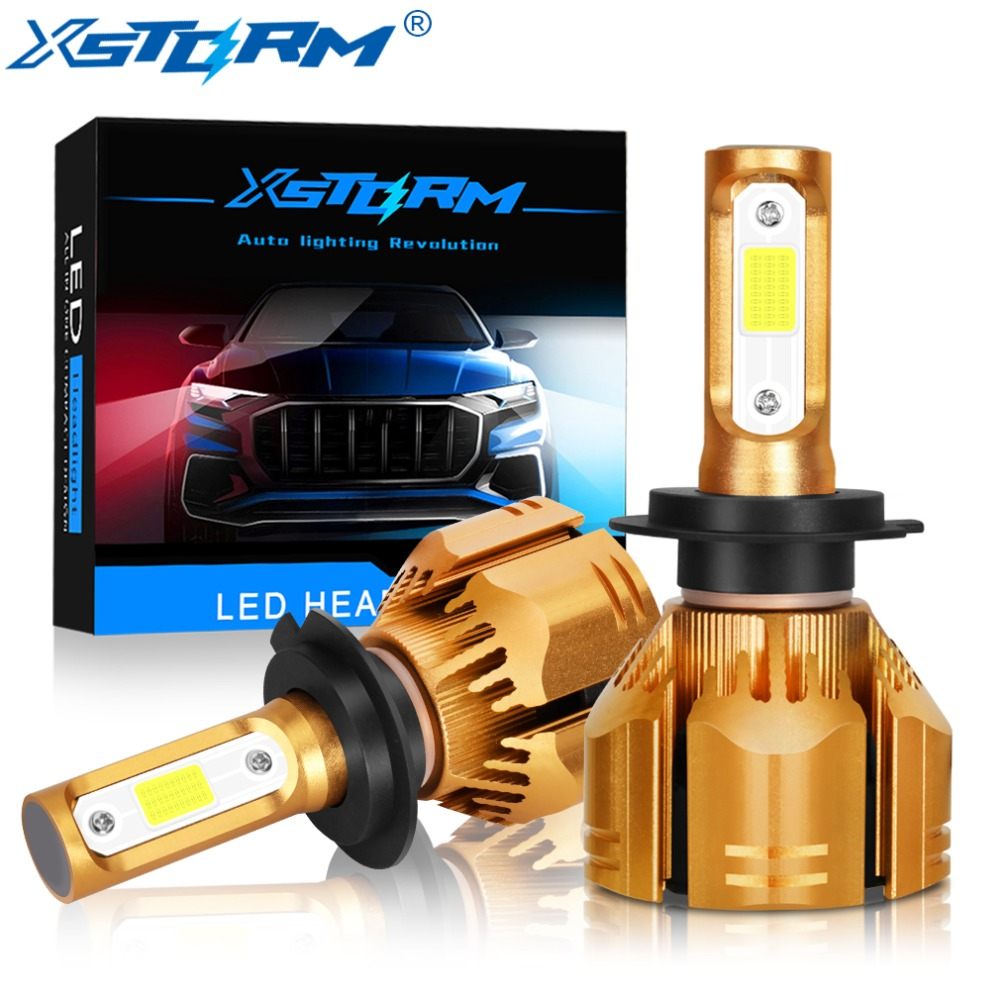 XSTORM H7 Led H1 H3 H4 H8 H11 HB4 HB3 H13 9004 9007 HIR2 Car Led Headlight Bulbs COB 60W 9000LM 6000K White Lamp for Auto Lights