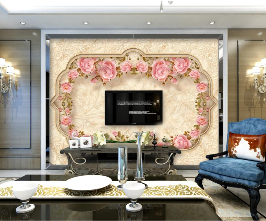 European-style marble mosaic wallpaper,hotel restaurant living room tv sofa wall bedroom 3d mural  papel de parede 3d mural papel de parede purple romantic flower mural restaurant living room study sofa tv wall bedroom 3d purple wallpaper