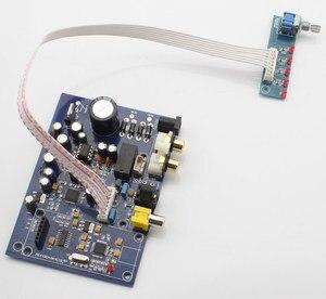 Image 1 - Placa de decodificador de cuatro canales AK4490 + AK4118, 15W, con USB coaxial de fibra (tarjeta hija para agregar USB), analógica, cuatro entradas