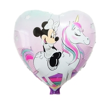 2pcs 81*64cm Happy Birthday balloons mickey mouse Planes for Holiday Decoration Cartoons Foil Ballon