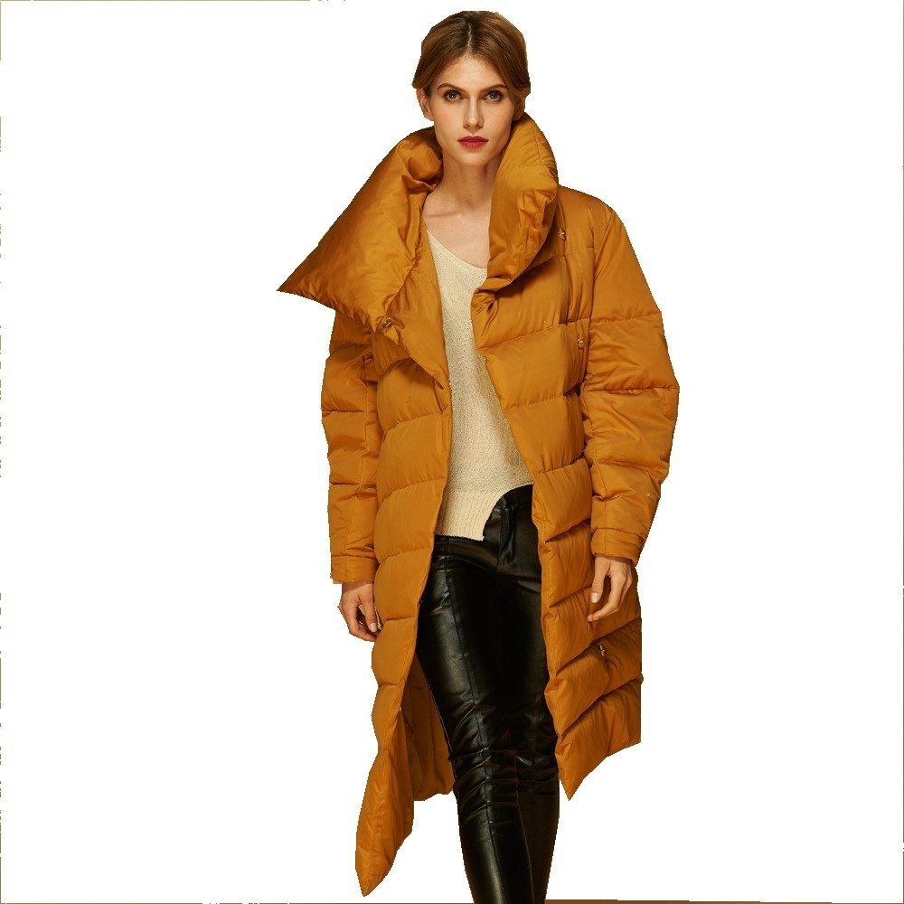 2018 Winter new arrival stylish woman   down   jacket woman long thickening keep warm   down     coat   for women AF1288