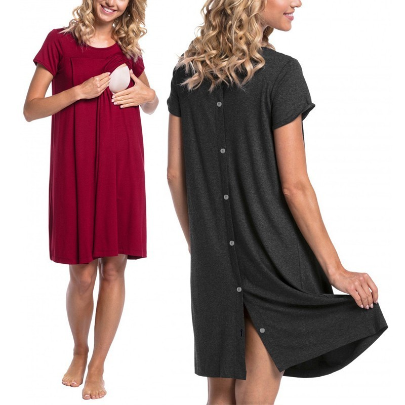 Summer Casual Maternity Clothes Nursing Clothing Nursing Dress Pregnancy Dresses For Pregnant Women Maternity Dress