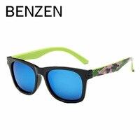 Бензола поляризованные детские солнцезащитные очки красочные 4-12 лет УФ дети мальчик очки солнцезащитные очки девушка оттенков с случае 1011