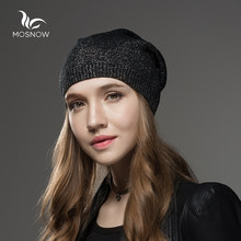 Mosnow Cappello Femminile di Lana di Inverno del Cachemire Cappelli Per Le  Donne Berretti di Alta Qualità Caldo delle Donne di M.. 35fa2f7cd752