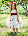 2016 New Hot Sale vestido de baile flores Sash chá de comprimento Flower Girl vestidos