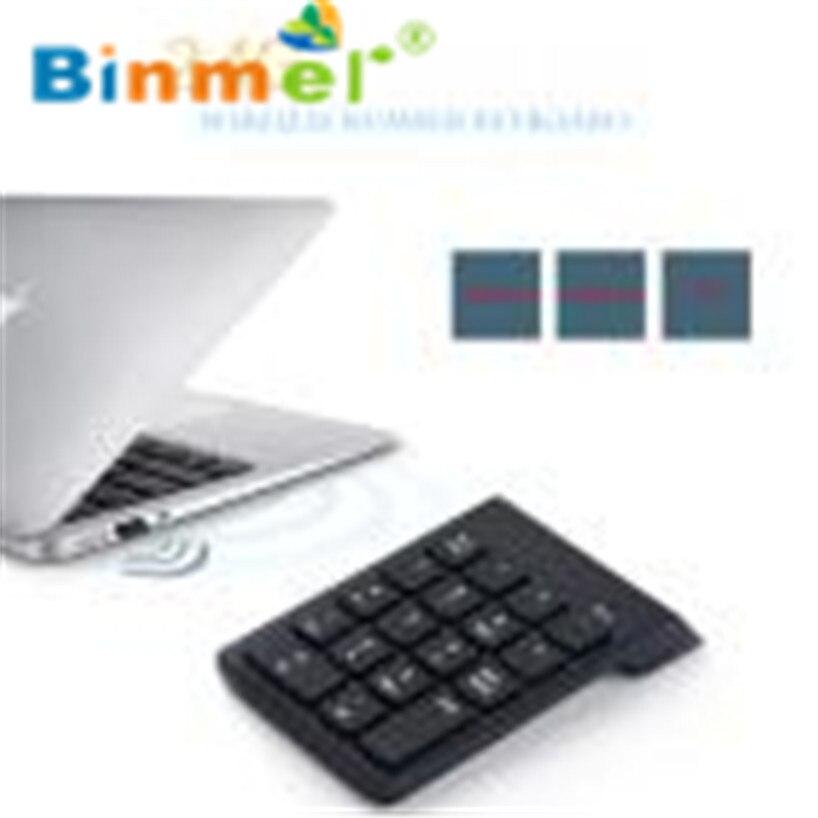 Binmer 2017 Wireless 2.4G Mini USB 18 Keys Number Pad Numeric Keypad Keyboard For PC Laptop Aug31