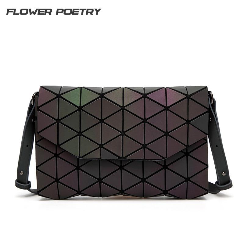 Famous Brand Women Shoulder Bag Geometry Bags for Gril Plain Handbags Female Diamond Messenger Crossbody Bag