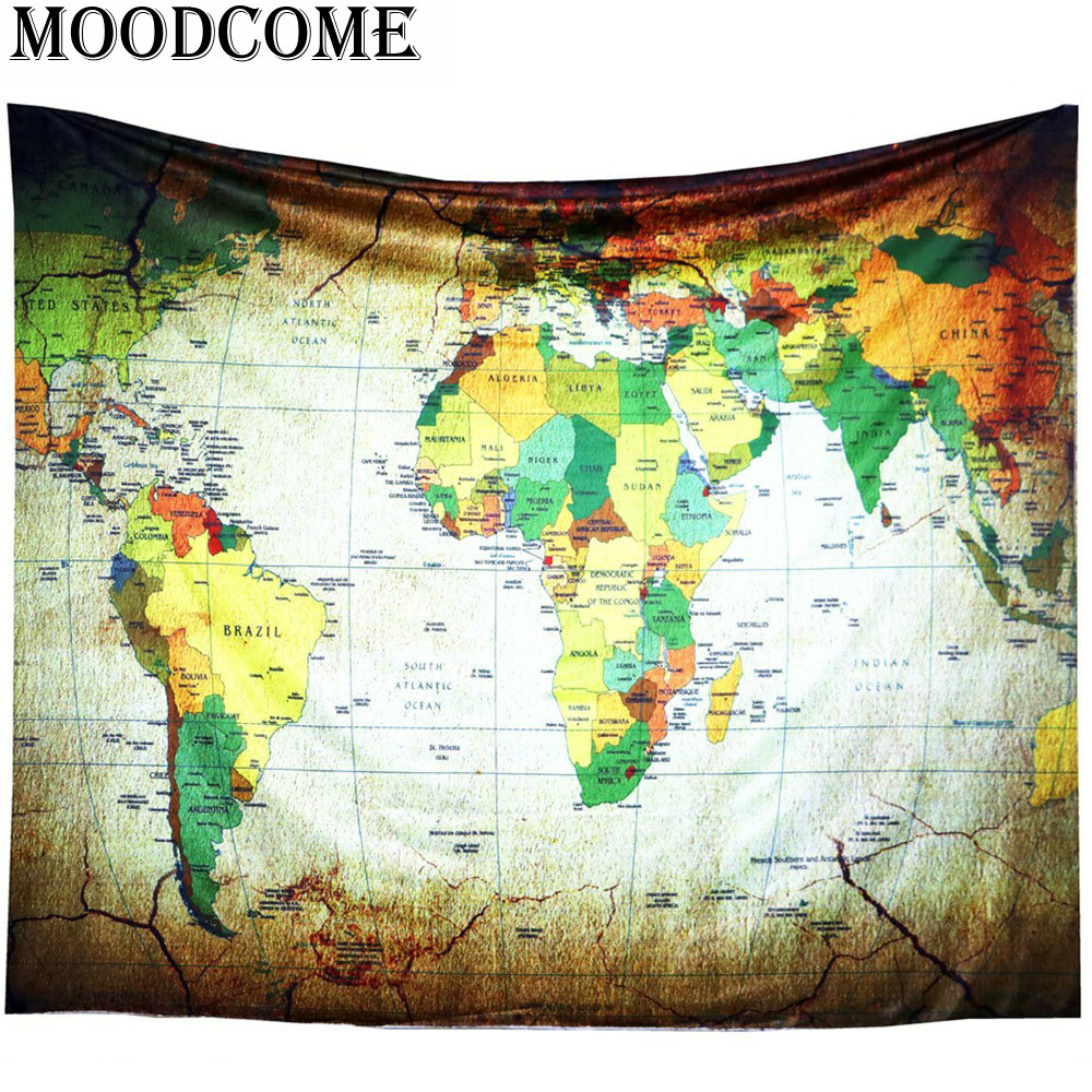 World map tapestry wall hanging fabric wandtapijt katoen colorful world map tapestry wall hanging fabric wandtapijt katoen colorful new arrival drop shipping wall carpet tapestry in tapestry from home garden on gumiabroncs Choice Image