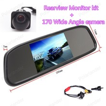 Wholesale  Car Rear View Monitor 4.3 inch with 170 Wide Angle HD Night Vision Car Rearview Camera Parking Monitor System