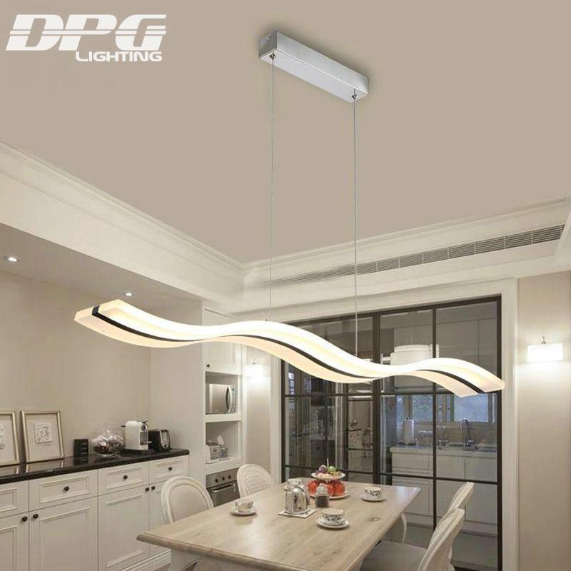 US $101.49 49% di SCONTO|Moderno Led 38 W Acrilico Bianco Lampadari Lampade  per La Cucina Sala da Pranzo Camera da Letto di Montaggio a Filo di Colore  ...