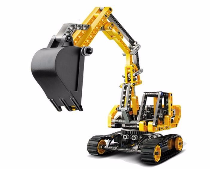 DECOOL Technic City Series Excavator Building Blocks Sets Bricks Classic Model Kids Toys Gift Compatible Legoe 196pcs building blocks urban engineering team excavator modeling design