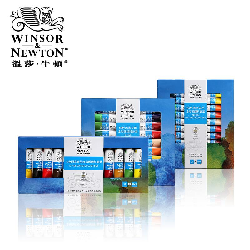 Winsor Newton 18 24 Colors Professional Water Color Paints Artists Watercolor Painting Pigment Watercolors Set For
