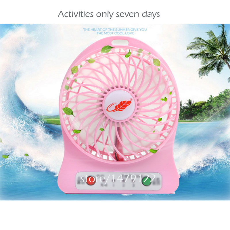 USB Mini Fan Portable Electric Fans LED Portable Rechargeable Desktop Fan Cooling air conditioner portable fan portable 8 pin air fan
