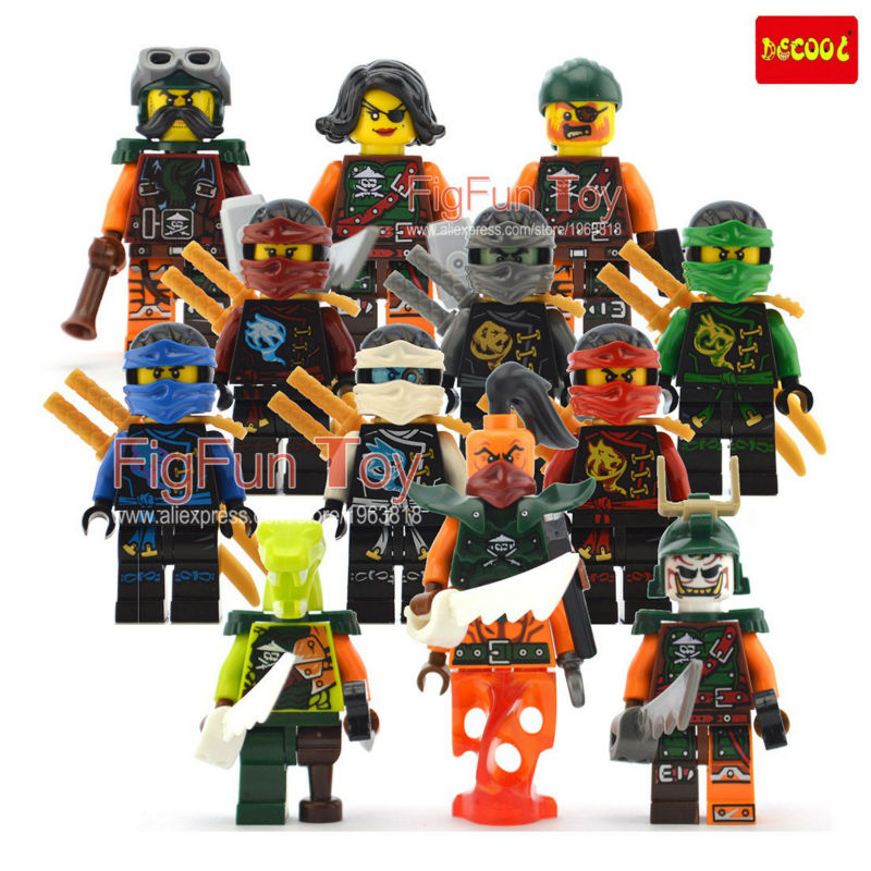 Decool Ninjago Minifigures Sets Skybound Sky Priates Nadakhan Cyren Clancee monkey Llyod Blocks Toys