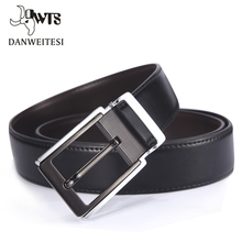 [DWTS]2017 genuine leather smooth black belt designer belts men luxury strap male belts for men fashion pin buckle for jeans