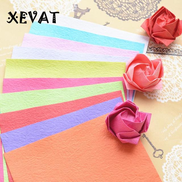 100PCSDIY Kawasaki Origami Roses Materials Handmade Paper Flowers Hand Rubbing Crepe