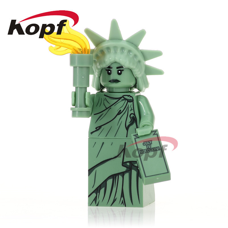 Single Sale Statue of Liberty Chicken Suit Inhumans Royal Family Super Heroes Building Blocks Education Toys for children PG1029