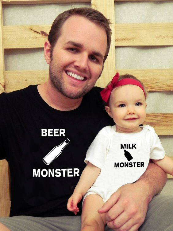 beer-monster-milk-monster-matching-t-shirt-dad-baby-casual-short-sleeve-o-neck-letter-print-family-clothes-dad-kids-cute-top