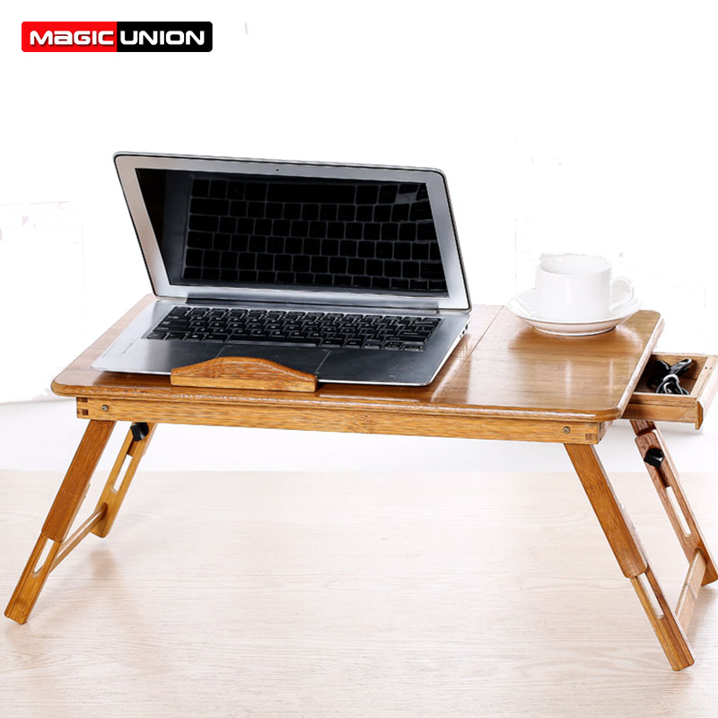 Us 39 99 50 Off Magic Union Computer Desk With Drawer Bed Table Folding Portable Laptop Table Multipurpose Small Writing Desk Heat Dissipation In