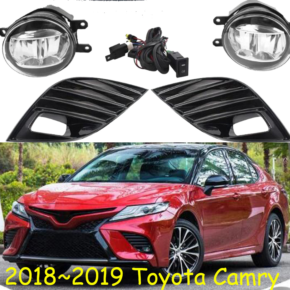 camry fog light led 2018 2019 camry bumper fog lamp driving light harness kit for camry se xse hibrid se xle auris altis [ 1000 x 1000 Pixel ]