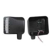 2pcs LED Side View Cover Reversing Signal Lamps for JEEP for Wrangler Yellow/White Light Guide Rearview Mirror Lamps