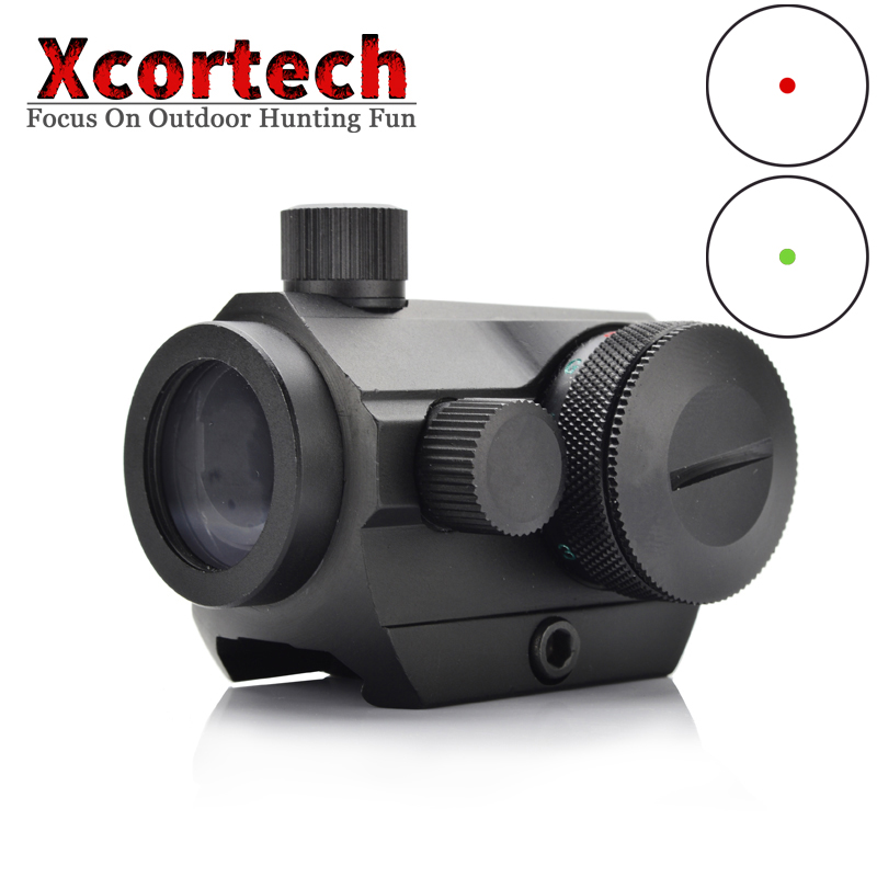 Tactical 1x Red Dot Scopes Sight Pistol Scope Optics Riflex Sight Collimator Hunting Holographic Riflescopes For Airsoft AR-15 image