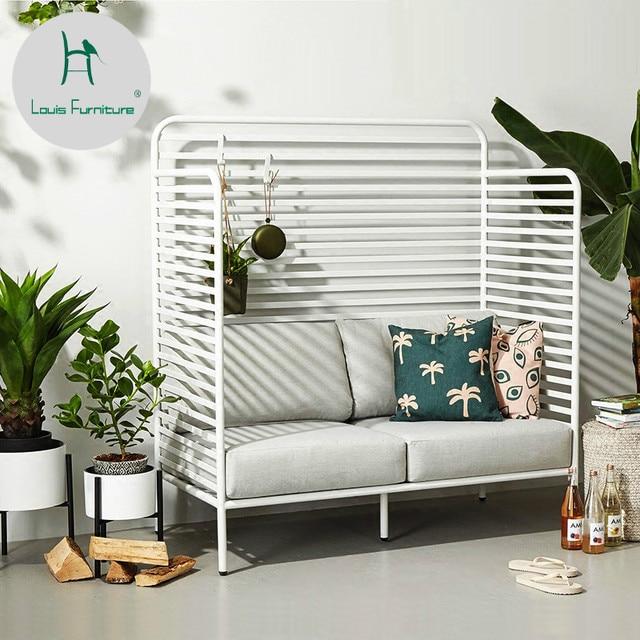 Louis Fashion Garden Sofas Nordic Sofa Chair Clothing Shop Studio Creative  Double Ins Net Red Shop