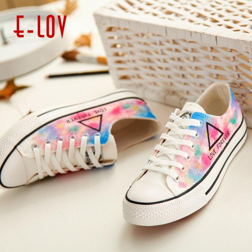 Chaussures Arc Toujours 2018 Romantique Main lov Amour Mode Appartements Femmes Impression Pour peint Arc en couleur D108c Personnalisée Plate E forme TWFP0pIq0