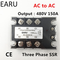 TSR 150AA SSR 150AA Three Phase Solid State Relay AC90 280V Input Control AC 30 480V