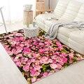 Высокое качество Роза цветы художественный ковер для гостиной спальни Противоскользящий напольный коврик модный кухонный ковер коврики
