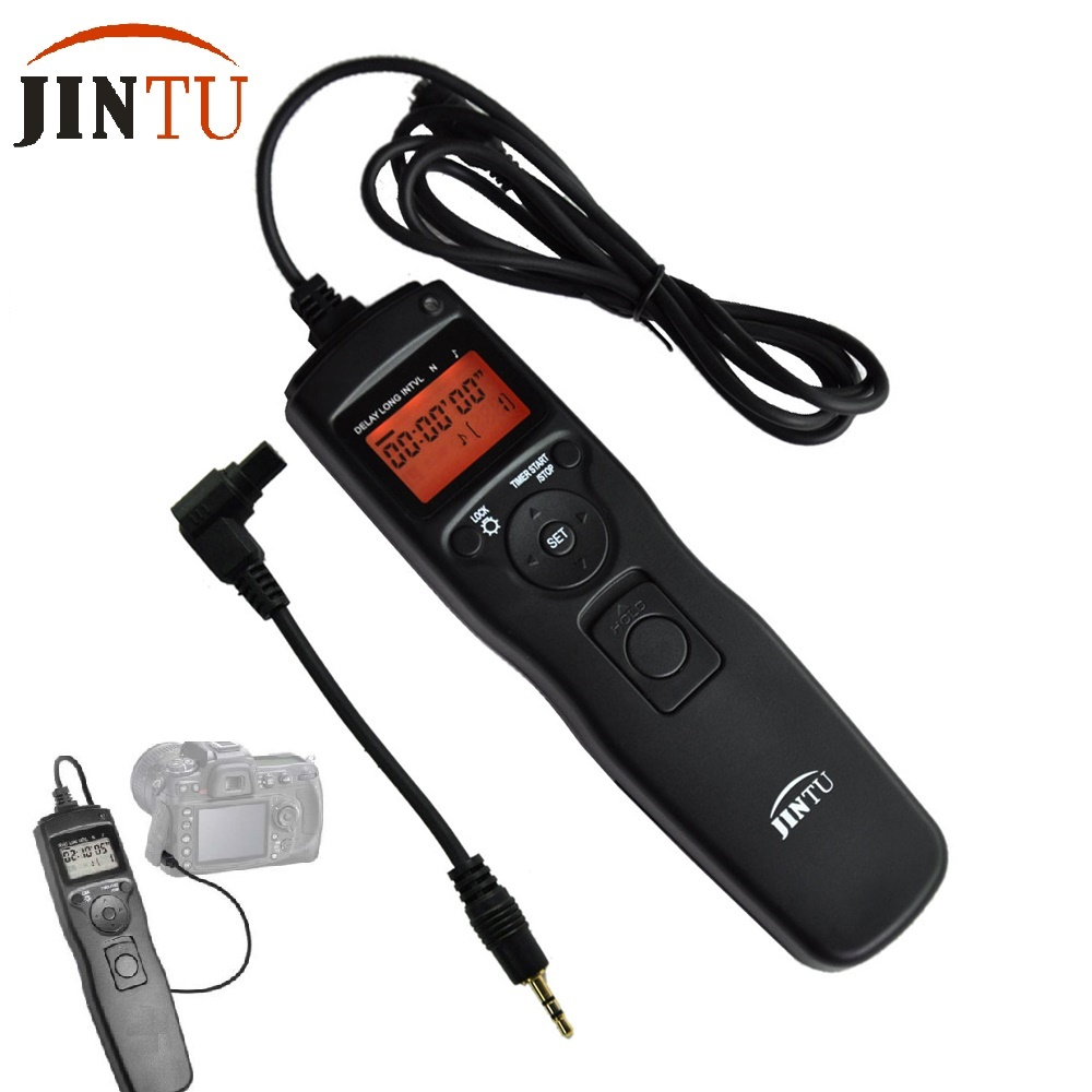 JINTU 2.4G Timer Shutter Release Time Lapse Intervalometer Remote Cord for Canon Camera 7D Mark II 6D 5D II III 50D 40D 5D IV