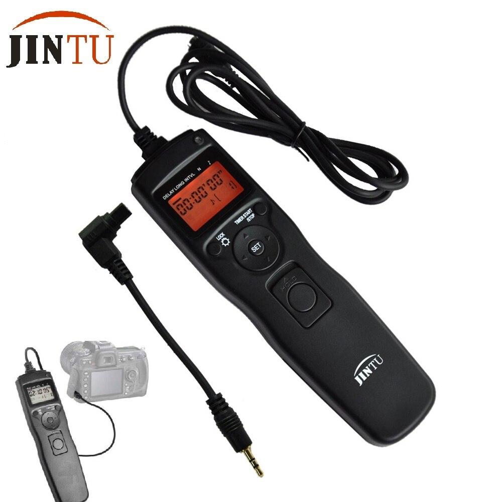 Jintu 2.4g time lapse intervalometer temporizador de disparo do obturador cabo remoto para canon câmera 7D 6E 5D Mark II 50D 40D 5D II III IV
